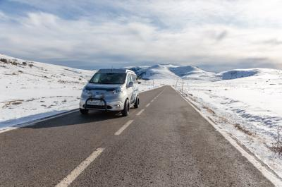 Nissan e-NV200 Winter Camp Concept | les photos du camping-car électrique et tout-terrain