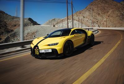 Bugatti Chiron Pur Sport | Les photos du bolide dans les monts Hajar