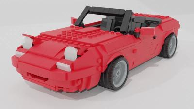 Mazda MX-5 en Lego | Les images de la voitures en petites briques