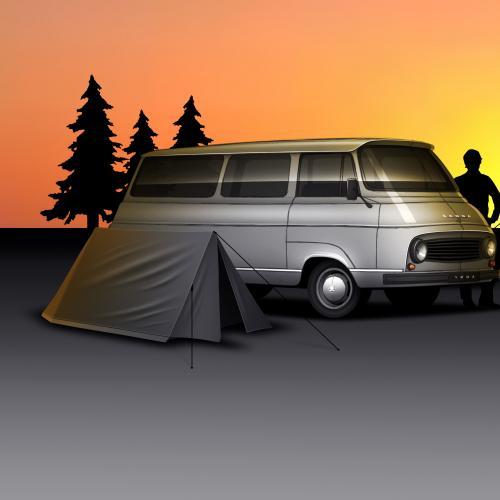 Skoda 1203 Camper Van | les photos du concept de « Combi » Skoda