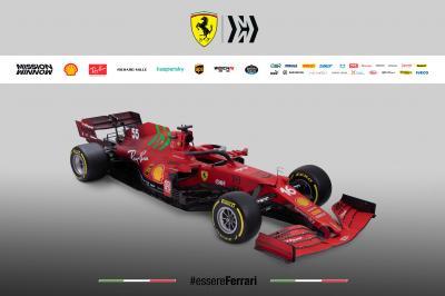 F1 2021 | la Ferrari SF21 de Leclerc et Sainz en photo