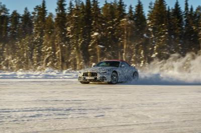 Mercedes SL (2021) | Les photos du cabriolet à l'essai en Suède