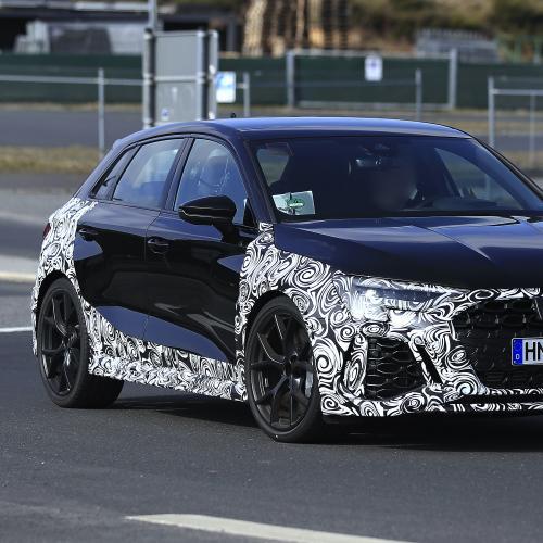 Audi RS3 (2022) | Les photos espion de la compacte sportive