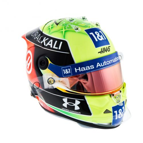 Mick Schumacher | les photos de son 1er casque en F1