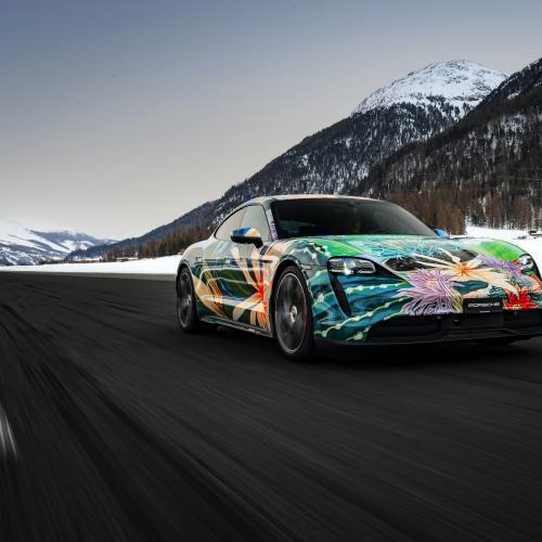 Porsche Taycan 4S Artcar   Les photos de la berline électrique customisée