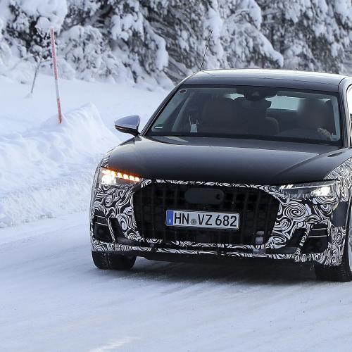 Audi A8 restylée (2022) | Les photos du prototype de pré-production