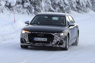 Audi A8 restylée (2022) | Les photos du prototype de pré-production