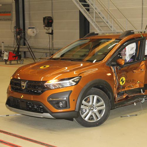 Dacia Sandero Stepway (2021) | les photos du crash-test Euro NCAP
