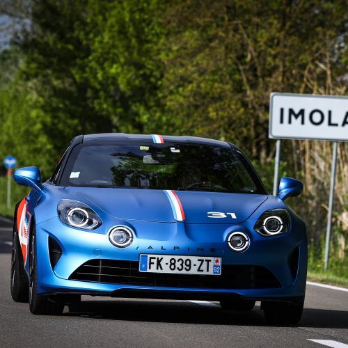 Alpine A110 Trackside | Les photos des berlinettes des pilotes de F1