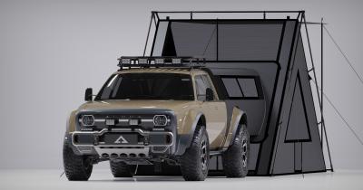 Alpha Motors Wolf +   Les photos du pick-up en version longue