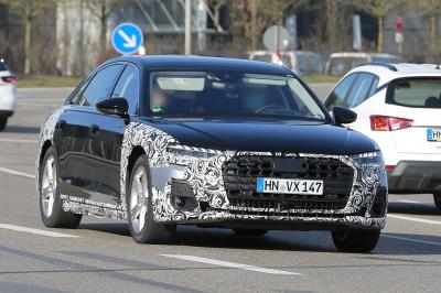 Audi A8 restylée (2022) | Les photos espion de la berline de luxe