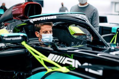 Romain Grosjean sous les couleurs de Mercedes au Grand Prix de France