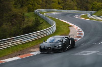 Bugatti au Nürburgring | Les photos des modèles à l'essai