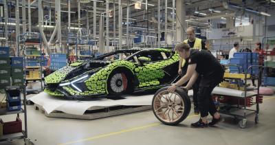 Lamborghini Sián FKP 37 by Lego   Les photos de l'hypercar grandeur nature