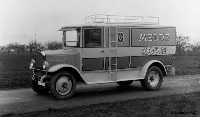 Daimler et Benz | Les photos de leur premier camion Diesel (1923)