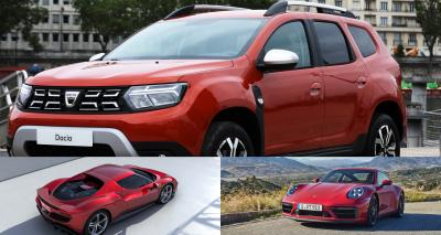 Les nouveautés de la semaine 25 (2021)   2nde partie : Dacia Duster, Ferrari 296 GTB, Porsche 992 Carrera GTS