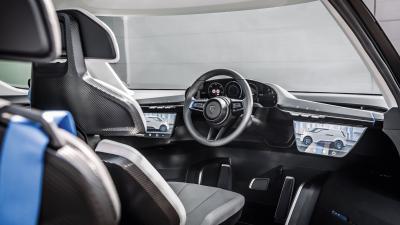 Porsche Vision Renndienst   Les photos de l'intérieur futuriste