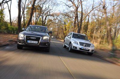 Match Audi Q5 3.0 TDI Mercedes GLK 320 CDI