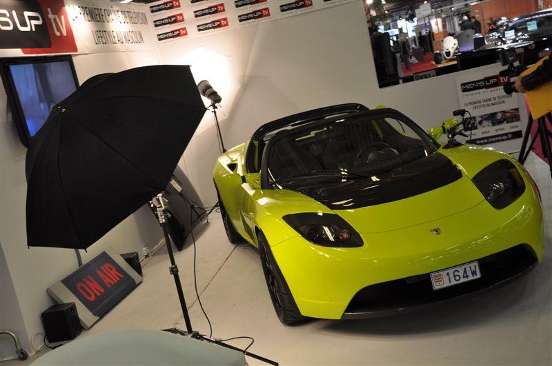 La Tesla Roadster à Paris