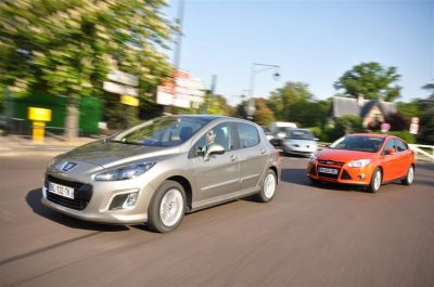 Comparatif Ford Focus TDCi 115 ch VS Peugeot 308 e-HDi 112 ch