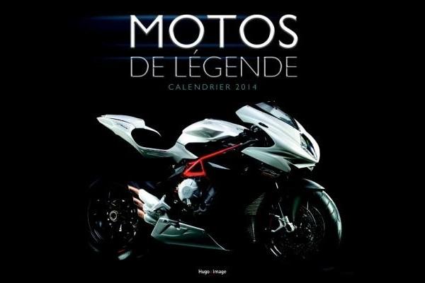 Calendrier mural Moto 2014 Hugo et Cie