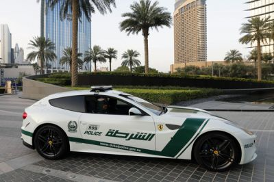 Les véhicules d'intervention de la police de Dubaï