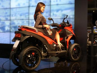 Eicma 2013 - Quadro peaufine son 4 roues Parkour qui devient «4» !