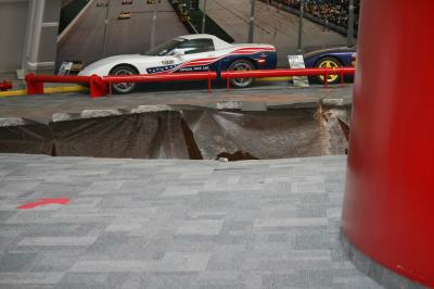 Effondrement Chevrolet Corvette