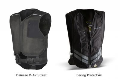Label SRA pour les airbags Bering Protect'Air et Dainese D-Air Street