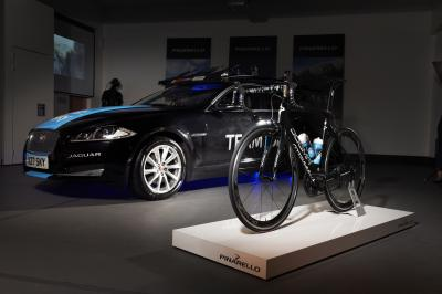 Un vélo dessiné par Jaguar sur le Tour de France 2014