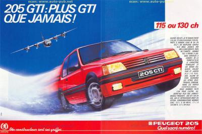 30 ans de 205 GTI en images