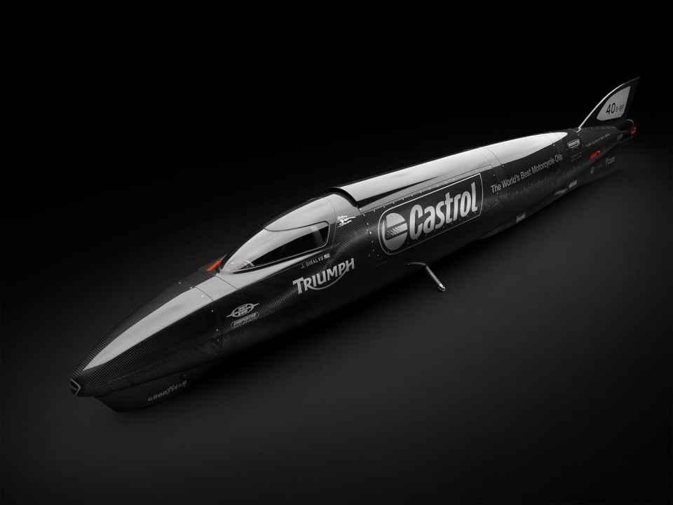 Castrol rocket : 1000 cv pour une Triumph très Bonneville !
