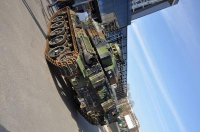 Démonstration du char blindé AMX30