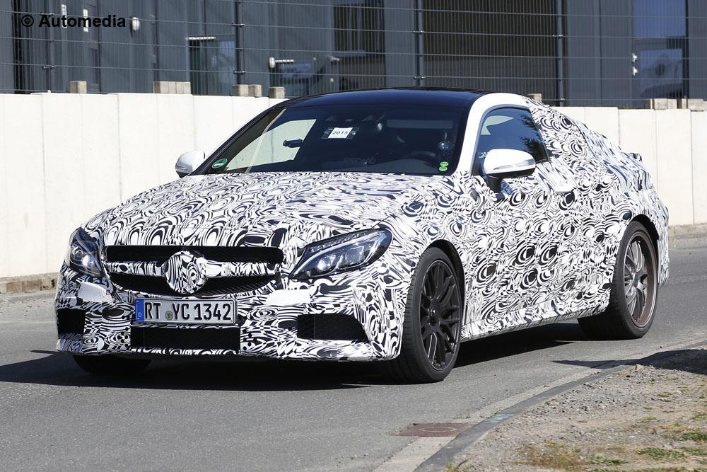 Mercedes C63 AMG Coupe (2015 - spyshots)