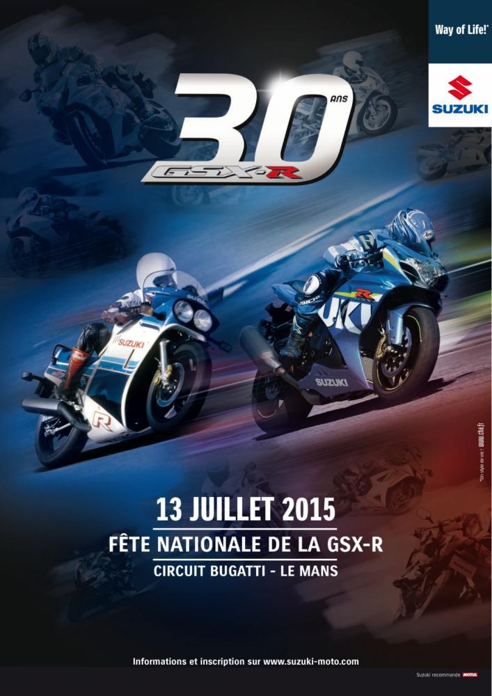 Suzuki : les 30 ans de la GSX-R au Mans le 13 juillet