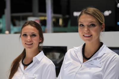 Les hôtesses du salon de Francfort 2015