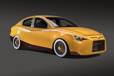 Scion iA low-rider (SEMA Show 2015)