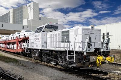 Locomotive hybride Audi