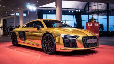 L'Audi R8 V10 Plus s'habille d'or