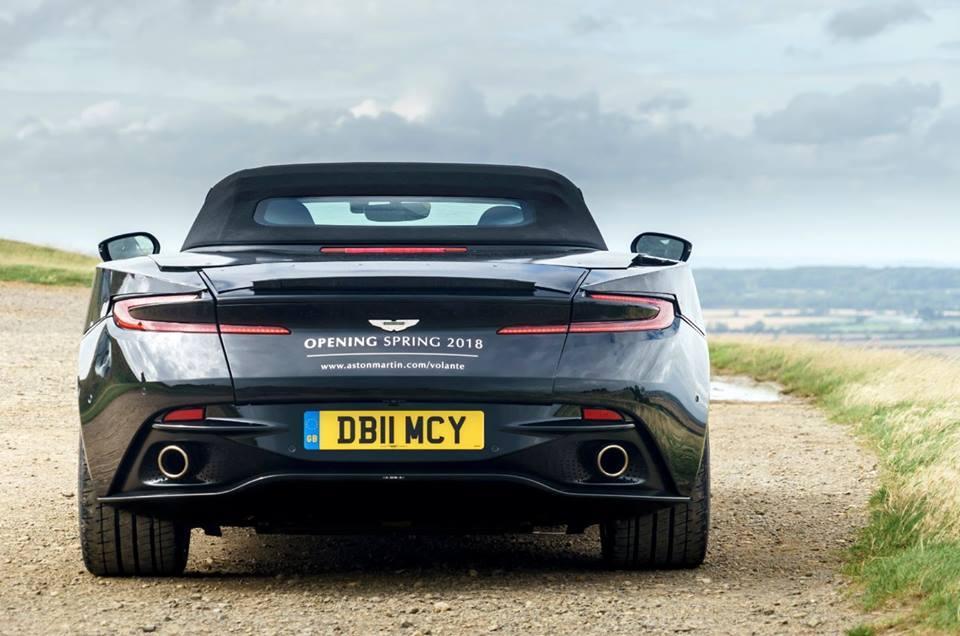 Teasers Aston Martin DB11 Volante