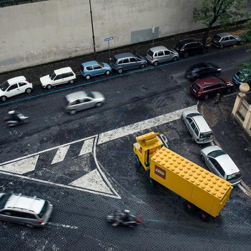 Les Lego s'invitent dans le trafic