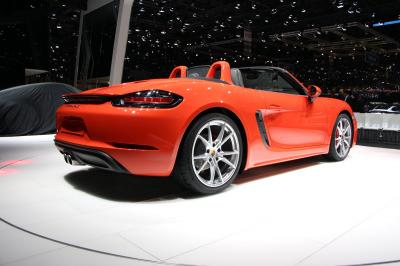 Porsche 718 Boxster : les photos en direct du salon de Genève