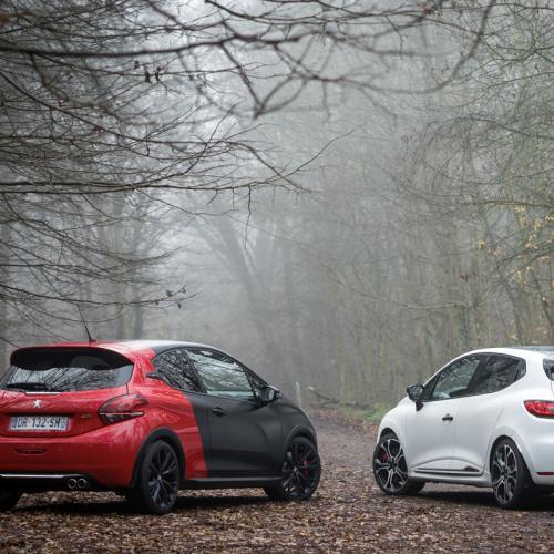 Peugeot 208 GTi by Peugeot Sport vs Renault Clio R.S. Trophy : toutes les photos de notre comparatif