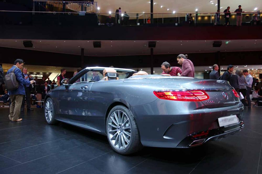 Mercedes Classe S Cabriolet : les photos en direct de Francfort