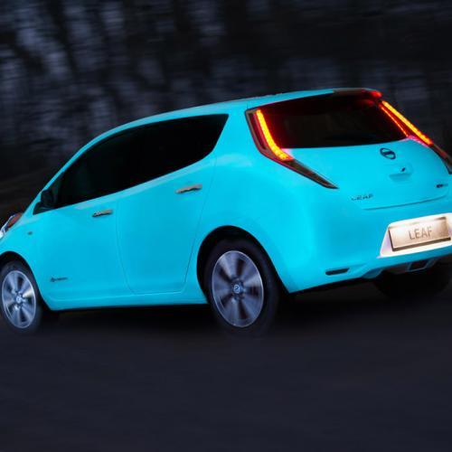 Nissan Leaf peinture phosphorescente
